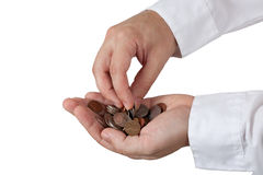 Counting Change Royalty Free Stock Photos