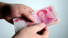 Counting China Yuan Royalty Free Stock Photos