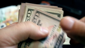 Counting of criminal money - Stock Video stock video footage