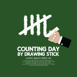 Counting Day By Drawing Sticks Stock Photos