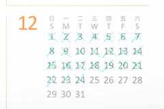 Counting down the days with a calendar royalty free stock photography