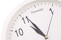 Counting Down to Dooms Day. Clock Counting Down To Dooms Day Stock Photo