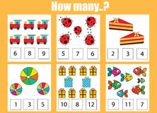 Counting Educational Children Game Kids Activity How Many Objects Task Sheet Learning Mathematics Numbers Addition Theme on stock illustration addition using fingers math worksheet kids add