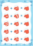 Counting Educational Game for Children. Addition worksheet Royalty Free Stock Photography