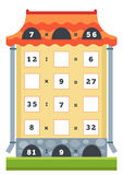 Counting Educational Game. Tasks for addition and subtraction Stock Photos
