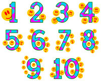 Counting emoticons Royalty Free Stock Image