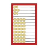 Counting frame or abacus outline. In black Royalty Free Stock Photo