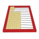 Counting frame or abacus outline. In black Stock Image