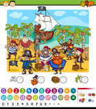 Counting game cartoon illustration Stock Photography