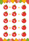 Counting Game for Children. Multiplication worksheets Royalty Free Stock Images