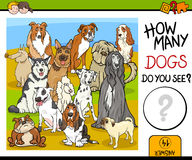 Counting game with dogs Stock Photo