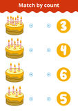 Counting Game for Preschool Children. Count the candles Royalty Free Stock Photos
