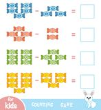 Counting Game for Preschool Children. Count the number of sweets. Counting Game for Preschool Children. Educational a mathematical game. Count the number of Stock Image