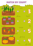 Counting Game for Preschool Children. Count vegetables Stock Images