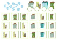 Counting Game for Preschool Children. Educational a mathematical game Royalty Free Stock Photos
