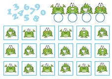 Counting Game for Preschool Children. Educational a mathematical game Royalty Free Stock Image