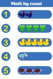 Counting Game for Preschool Children. Educational a mathematical game. Stock Photography