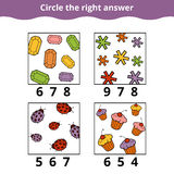 Counting Game for Preschool Children Stock Image