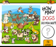 Counting game with spotted dogs Stock Photos
