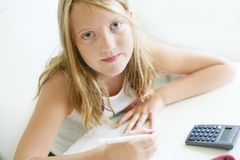 Counting girl stock photography