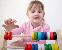 Counting girl Stock Images