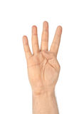 Counting hand - four Royalty Free Stock Photos