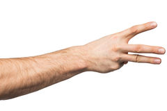 Counting hand gesture Royalty Free Stock Photos