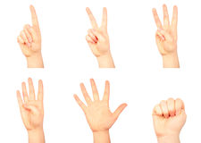 Counting hands Stock Images