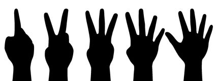 Counting hands Royalty Free Stock Photography
