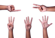 Counting hands Royalty Free Stock Images
