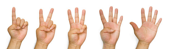 Counting Hands Royalty Free Stock Photos