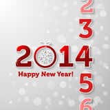 Counting 2014. With Happy New Year message Stock Photo