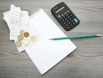 Counting the household budget Stock Photos