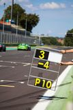 Counting laps on the track during the race of supercars royalty free stock photography
