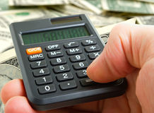 Counting losses. Accurate analysis of the financial components Royalty Free Stock Images