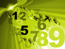 Counting Mathematics Represents Number Design And Numerical Royalty Free Stock Image