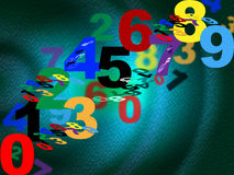 Counting Maths Means Background Design And Numbers Stock Image