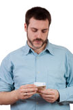 Counting the Money. Man counting money in his hands Stock Photography