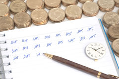 Counting money Royalty Free Stock Image