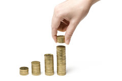 Counting money for the bank Stock Photography
