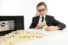 Counting money. Stock Photo
