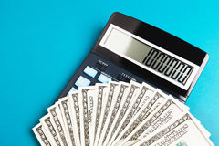 Counting money and saving finances Stock Photo