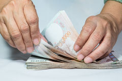 Counting money Royalty Free Stock Photography