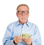 Counting my money Royalty Free Stock Images