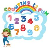 Counting Number 1 to 10 vector illustration