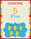 Counting numbers 5 Royalty Free Stock Photo