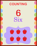 Counting numbers 6. Illustration of counting numbers six depicting mango. Visit: https://graphixandcode.com royalty free illustration