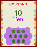 Counting numbers 10. Illustration of counting numbers ten depicting mango. Visit: https://graphixandcode.com royalty free illustration