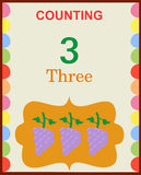 Counting numbers 3 Royalty Free Stock Photography