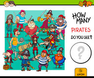 Counting pirates educational game for kids Stock Image